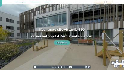Plateforme de visite virtuelle hôpital de Riantec